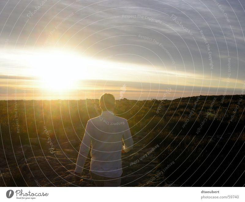 sunset walk Sunset Yellow Cape Town White Summer Romance Sky Blue Human being Gold Stone Mountain