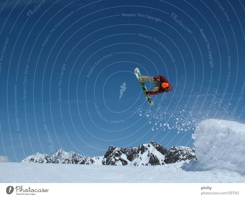 snowboarder Snowboarder 2006 Kaunertal Blue sky