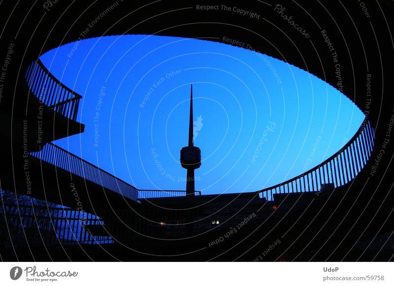 Blue Bridge Handrail Swing Arch Cottbus Clock tower