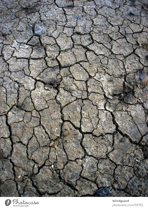 Dry And Dirty Drought Cavernous Field Desert Summer Earth Sand lumps lack of water Broken Gloomy