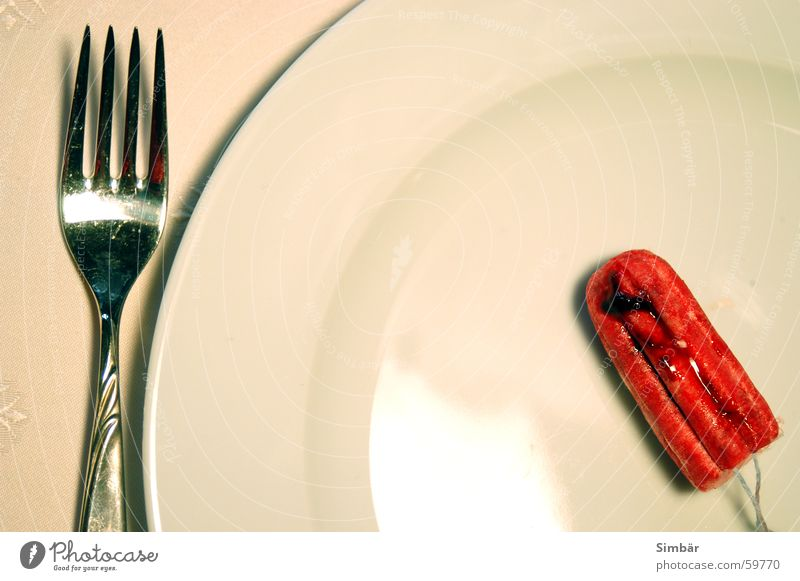 Red Nutrition Appetite Crockery Plate Blood Sewing thread Cutlery Tablecloth Fork Rule Cycle Fertile Stopper Tampon