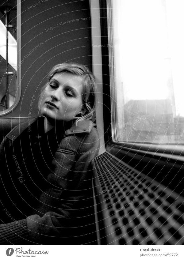 Relaxation Sleep Calm Woman peolple Railroad Contentment