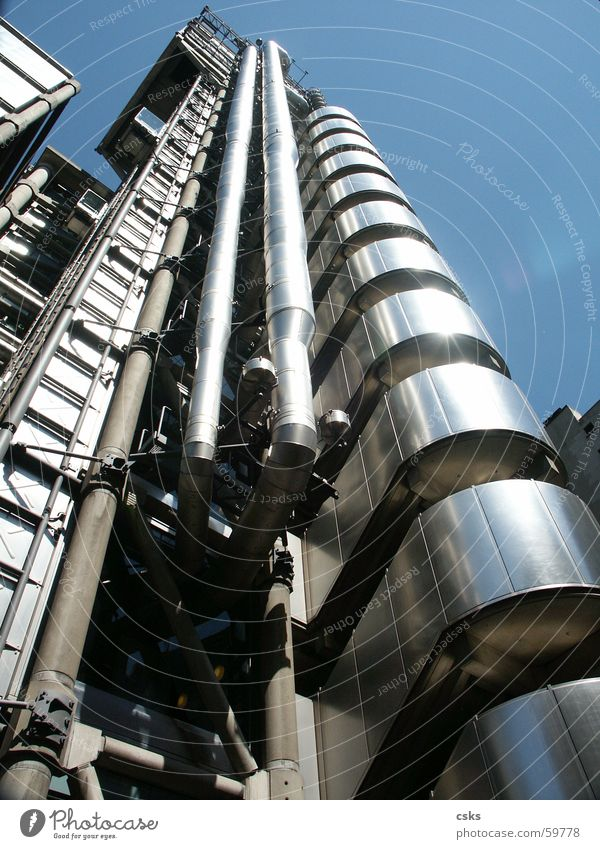 Sky Building Modern Pipe London England London Underground High-tech