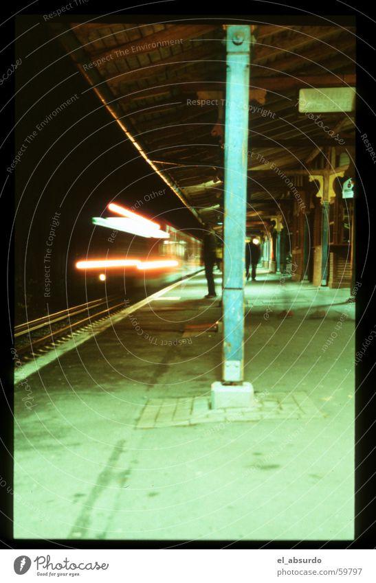 railway station Man Platform Driving Night Railroad