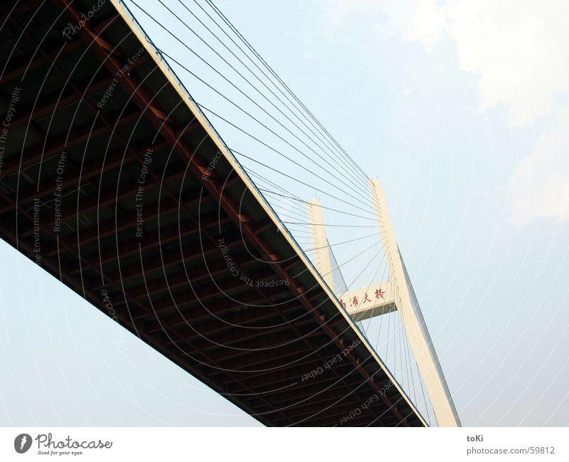 Power Force Bridge River Asia China Diagonal Shanghai Huang Pu river Rijeka