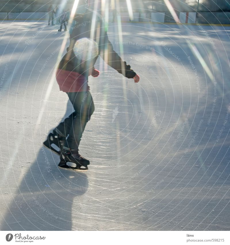 Human being Joy Winter Cold Life Movement Sports Lighting Ice Leisure and hobbies Glittering Contentment Walking Beautiful weather Frost