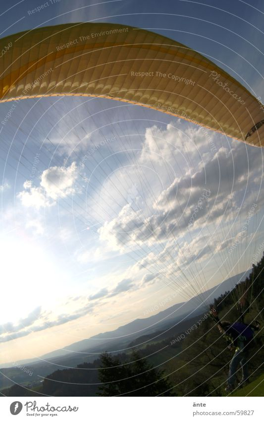 Sky Yellow Freedom Flying Beginning Rag Paragliding Bump
