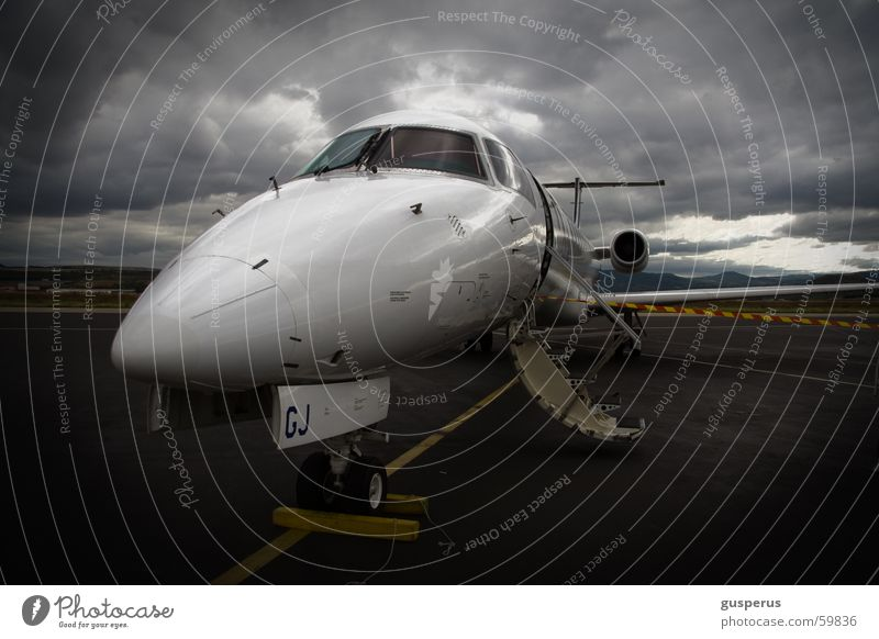 Clouds Dark Aviation Moody Airplane Speed Safety Gale Airport France Machinery Storm Jet Runway