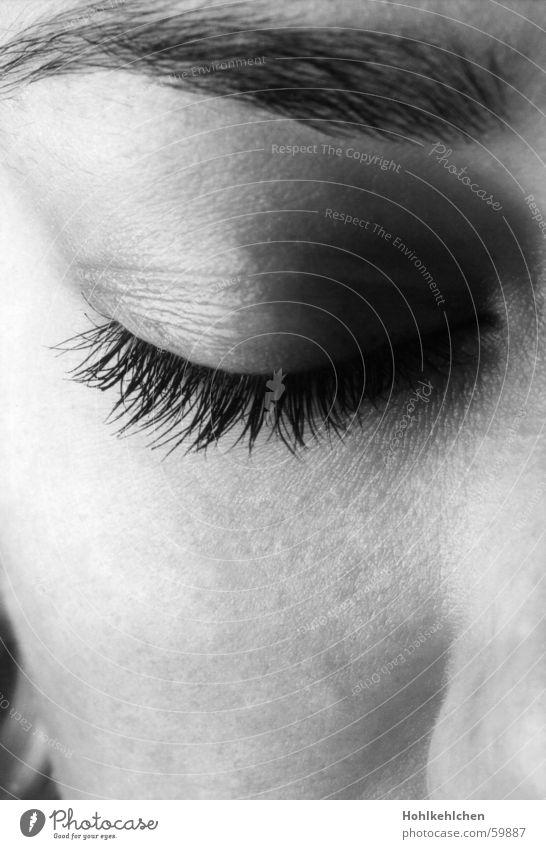 Face Calm Eyes Dream Sleep Closed Eyelash Eyebrow