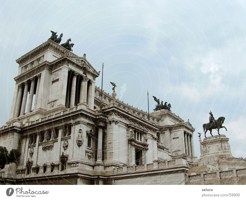 Beautiful Sky Blue Clouds Gray Building Religion and faith Italy Statue Manmade structures Historic Rome Old fashioned