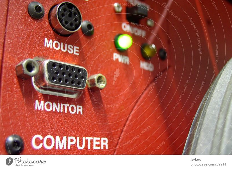 Red Computer Technology Science & Research Technique photograph Computer mouse Information Technology Display Electronics Connection LED Connector Robot User interface