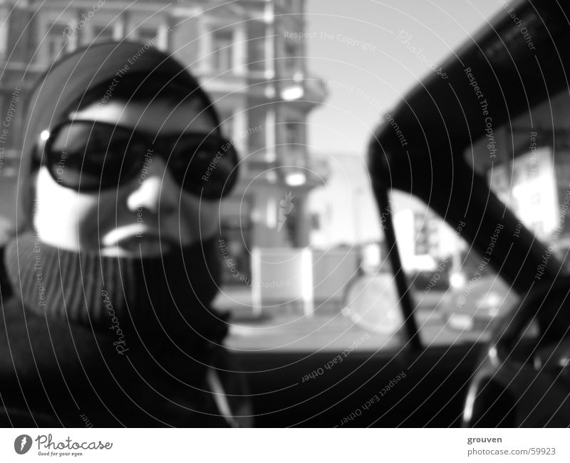 Woman White Sun Black Laughter Car Sunglasses Collar Convertible