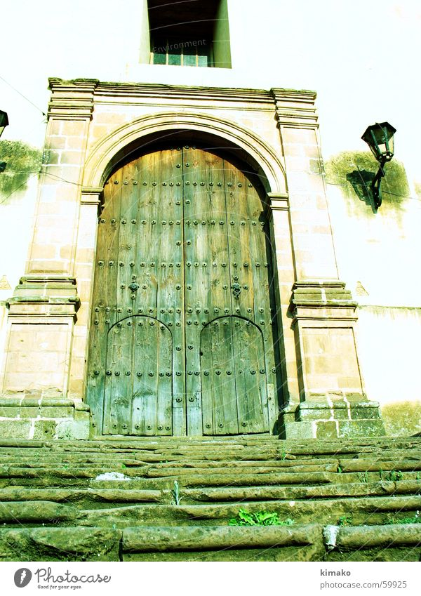 Patz's Cuanaro Lamp Door Old Stairs Mexico