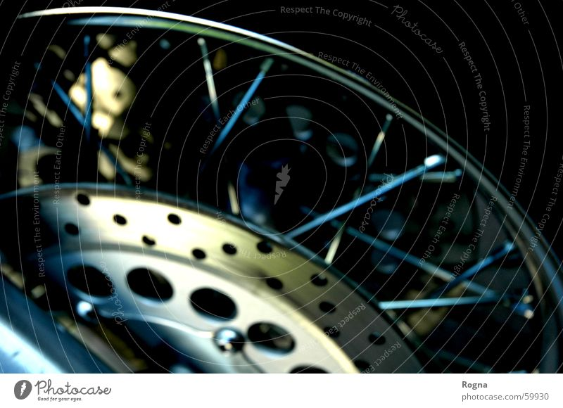 Bicycle Round Motorcycle Rubber Spokes Wheel rim Brake disc