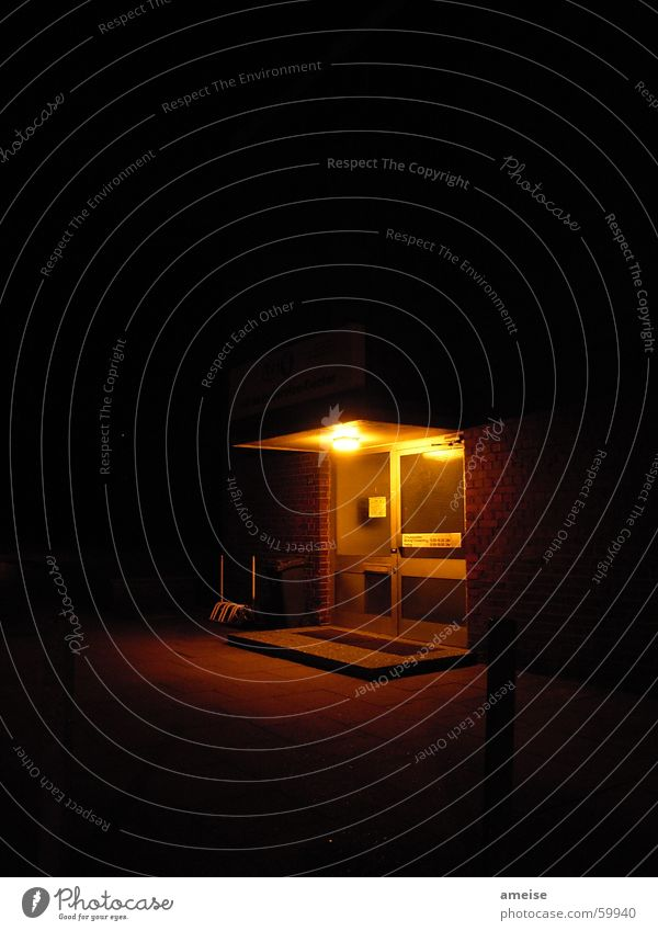 Red Dark Germany Fear Door Entrance Night shot Eimsbüttel