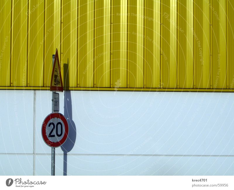 Contrast Signs I Yellow White Red Signs and labeling Road sign Railroad crossing Bans Prohibition sign Mandatory sign contrasting colors Warehouse reverberation