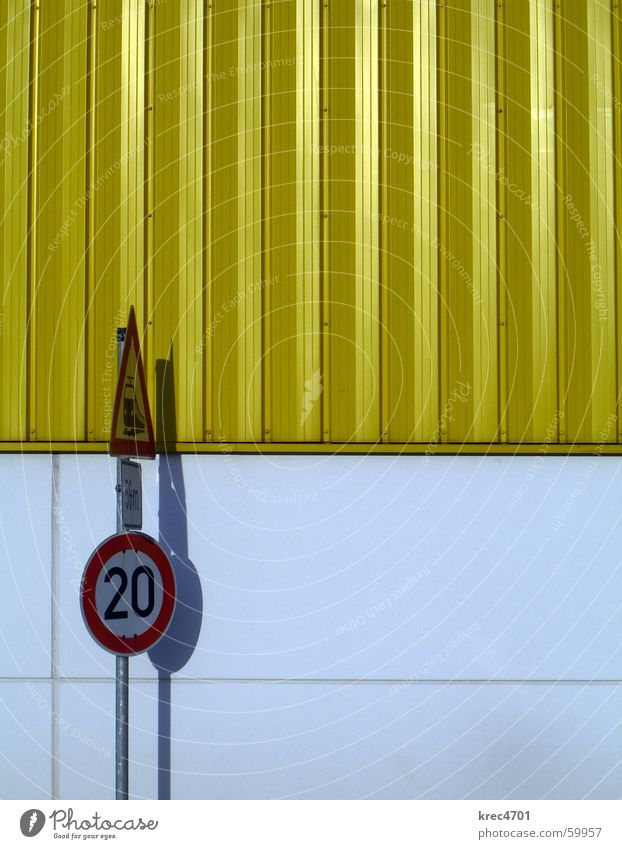 Contrast Signs II Yellow White Red Signs and labeling Road sign Railroad crossing Bans Prohibition sign Mandatory sign contrasting colors Warehouse