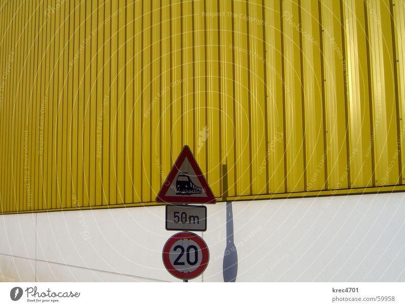 Contrast Signs III Yellow White Red Signs and labeling Road sign Railroad crossing Bans Prohibition sign Mandatory sign contrasting colors Warehouse