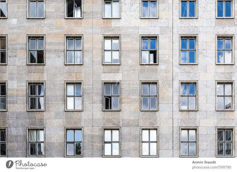 City Glass Windows : Blue old city window a royalty free stock photo from