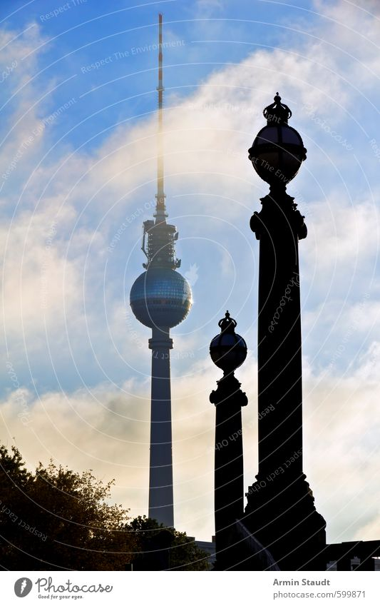 Two Bridge Columns as Analogy to the Berlin Television Tower Vacation & Travel Sightseeing Summer Telecommunications Architecture Beautiful weather