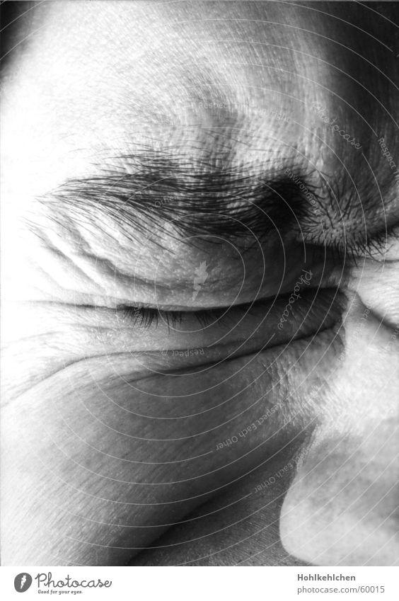 Man Face Eyes Pain Eyelash Eyebrow Denied