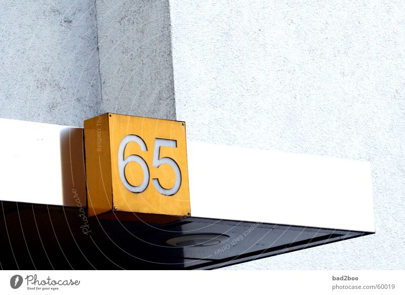 065 Digits and numbers House number Roof digit number fifty-six five sixtyfive Lighting plaque Plastic