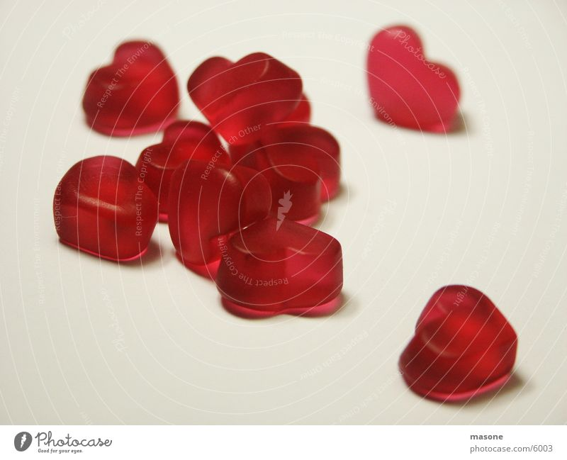 Red Love Heart Valentine's Day Candy Wine gum