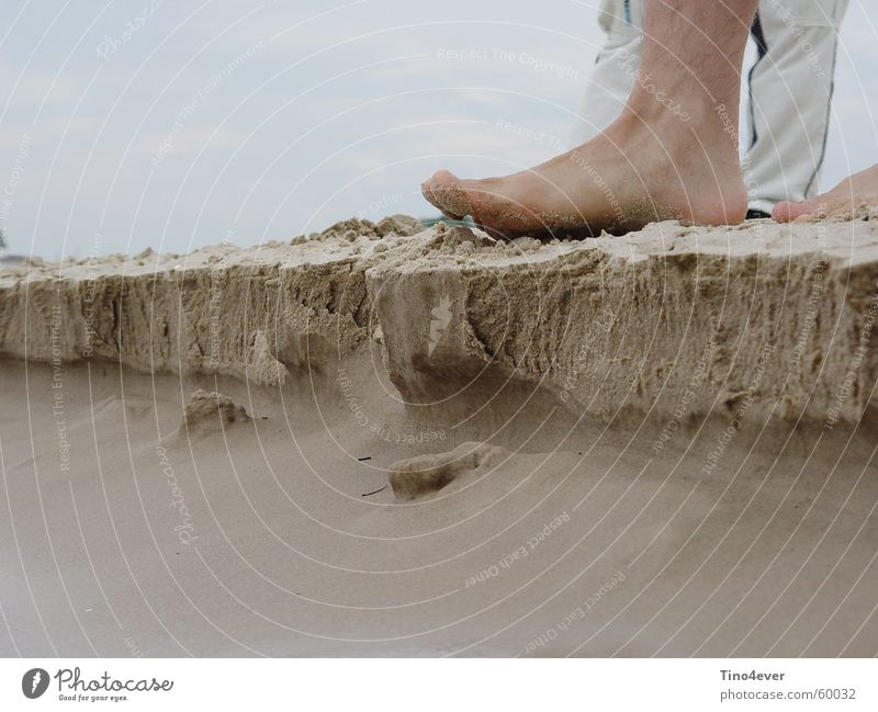 Beach Feet Sand Corner Baltic Sea Cliff Ocean