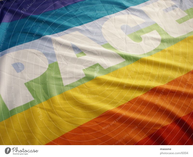 PACE War Peace Flag Rainbow Demonstration Historic pace NO WAR !!