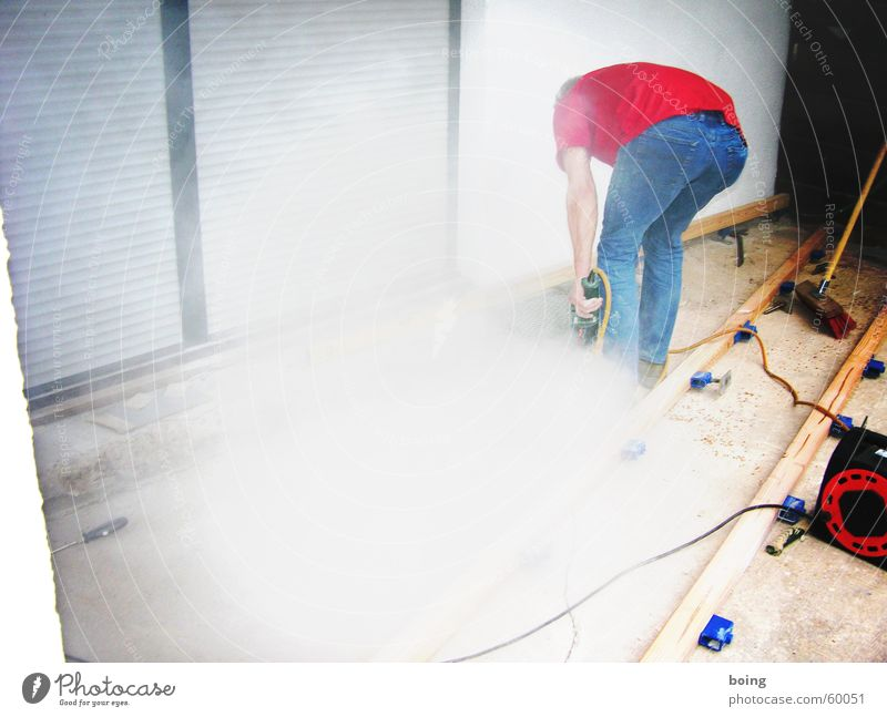 one who's doing some work where else Work and employment Craft (trade) Drill Dust Smoke Exhaust gas Electricity Construction site Handyman Redecorate Detail