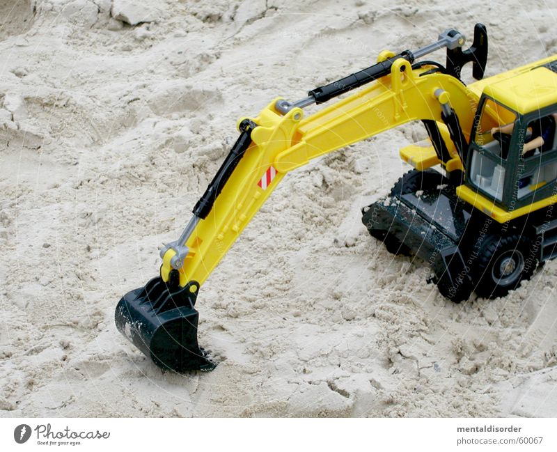 Yellow Playing Movement Sand Earth Logistics Construction site Toys Strong Wheel Machinery Build Construction Excavator Spoon Fill