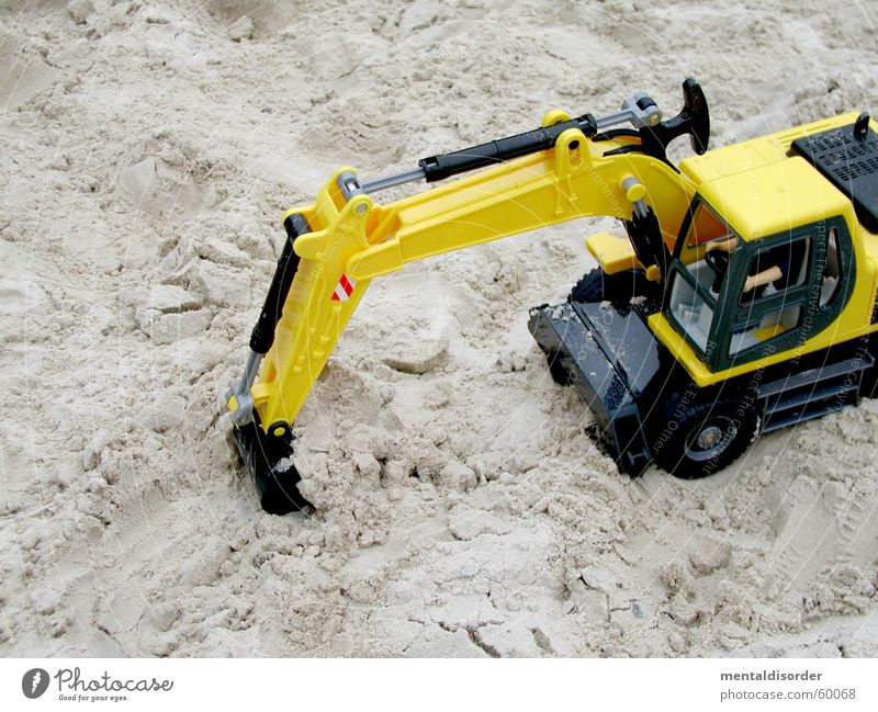 Yellow Playing Movement Sand Earth Logistics Construction site Toys Strong Wheel Machinery Build Excavator Spoon Fill