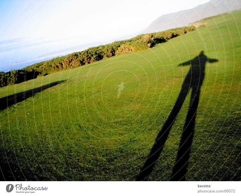 shadow on the grass Large Wales Grass Stagnating Unwavering Shadow Gower Peninsula self-image