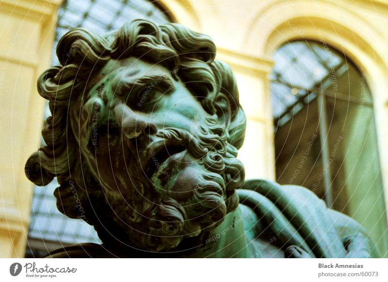 I am inclined to ... Distress Paris Louvre Green Head slanting Looking Pain Sadness