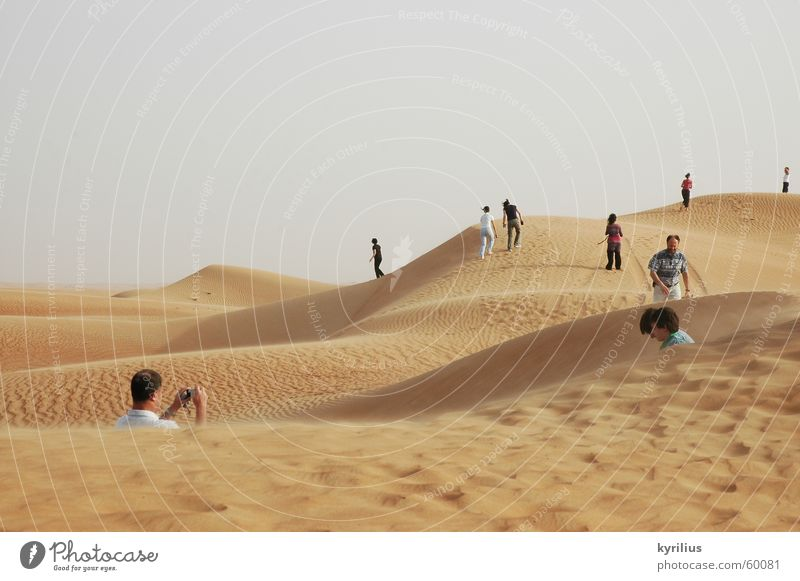 The future is... Human being Dubai Sand Desert Orange