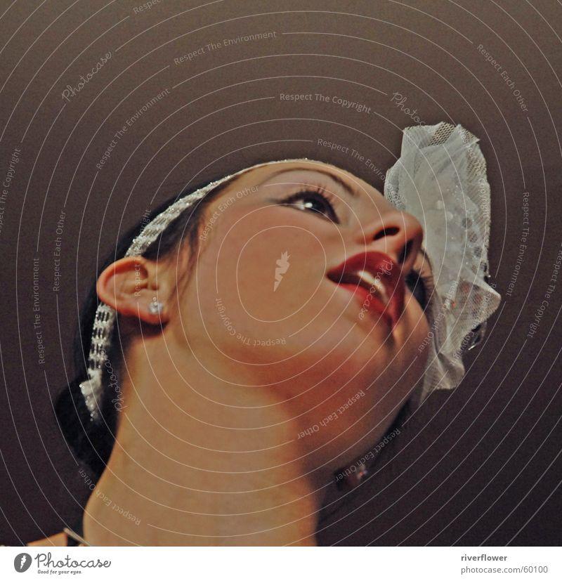 Woman Beautiful Red Face Mouth Lips Lady Jewellery Neck Dancer Lipstick Dress up