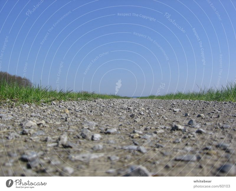 Nature Beautiful Sky Street Meadow Stone Lanes & trails Earth Lawn Floor covering Gravel