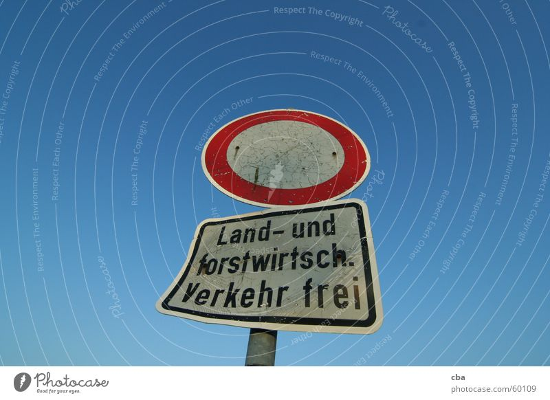 Lanes & trails Signs and labeling Free Agriculture Farmer Bans Bad Hersfeld