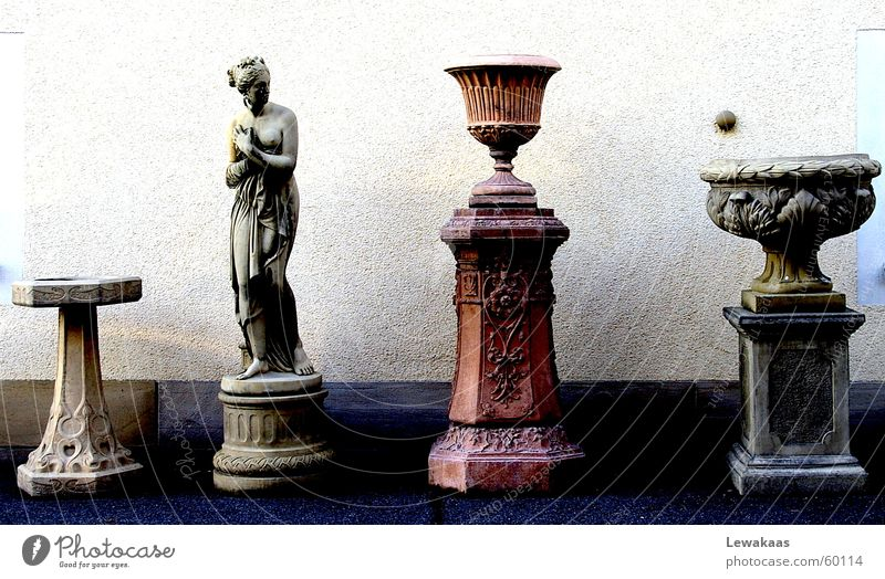 Woman Old Beautiful Stone Statue Column Collection Ancient Rome Frankfurt Precious Expensive Antique Römerberg Extra Exclusive