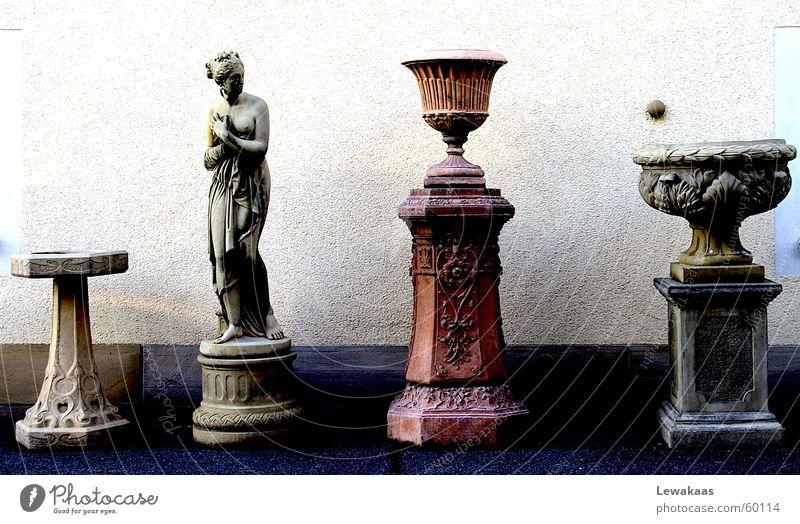 Woman Old Beautiful Stone Statue Column Collection Ancient Rome Frankfurt Precious Expensive Antique Römerberg Extra Exclusive