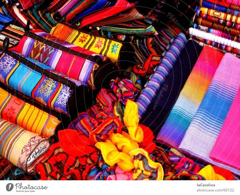 los colores del Ecuador Multicoloured Red Yellow Pink Colour Markets Blue