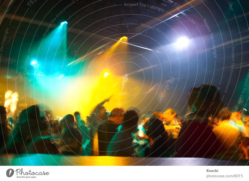 Party People II Colour photo Interior shot Evening Artificial light Light Contrast Reflection Light (Natural Phenomenon) Long exposure Blur Motion blur