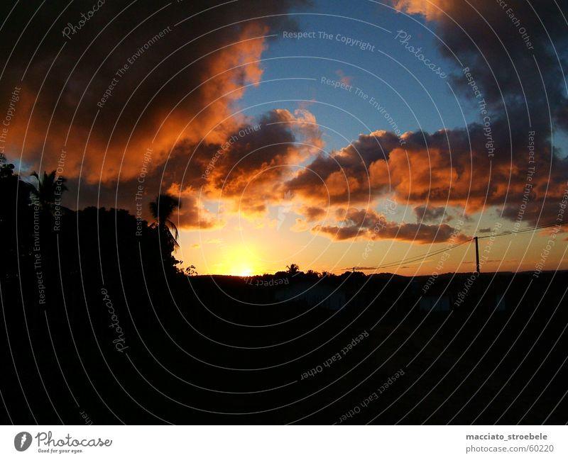 Showdown in Brasil Brazil Sunset Clouds