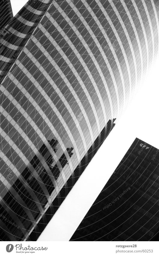 Architecture in the mirror Paris Reflection High-rise Mirror Glas facade Black & white photo Crazy Glass