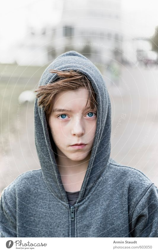 Human being Child Youth (Young adults) Beautiful Calm Gray Style Natural Fashion Moody Dream Masculine Infancy Stand Esthetic Simple