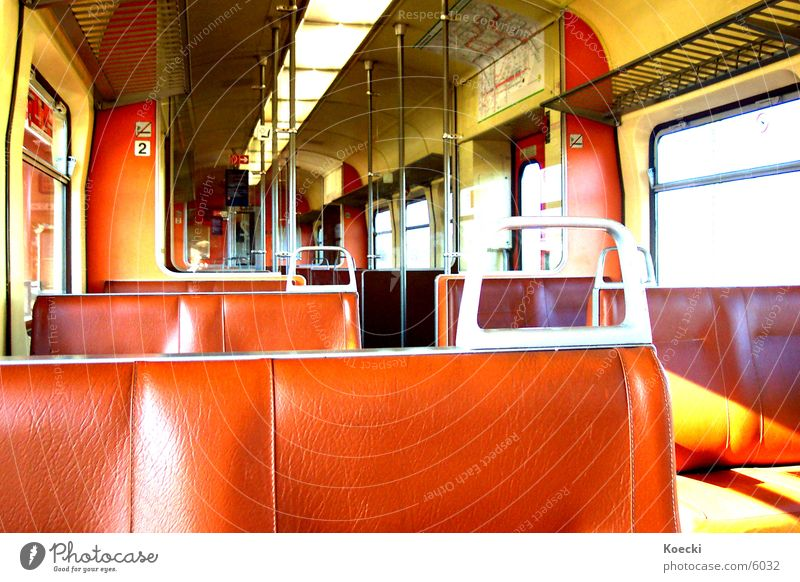 S-Bahn Session II Commuter trains Railroad Brown Transport Backrest Sun Seating wagon