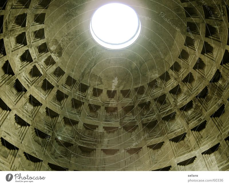pantheon Together Structures and shapes Holy Popular belief Catholicism Secularization Deities Italy Religion and faith Light Domed roof Rome Prayer Roof Empty