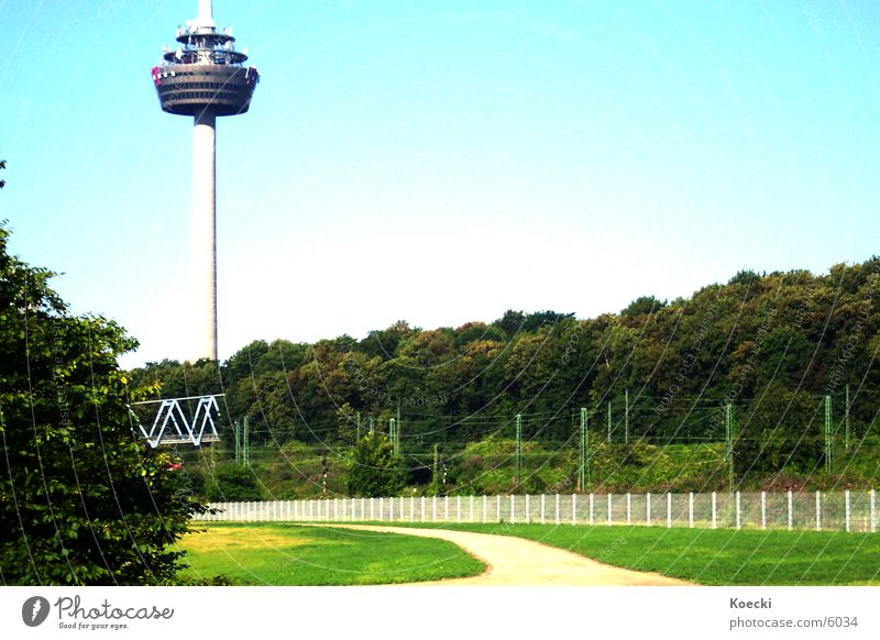 Green Lanes & trails Architecture Bridge Bushes Tower Cologne Frankfurt Television tower Deutsche Telekom Mediapark