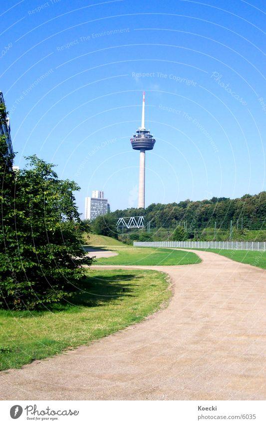 Green Lanes & trails Architecture Bridge Bushes Tower Cologne Television tower Frankfurt Deutsche Telekom Mediapark