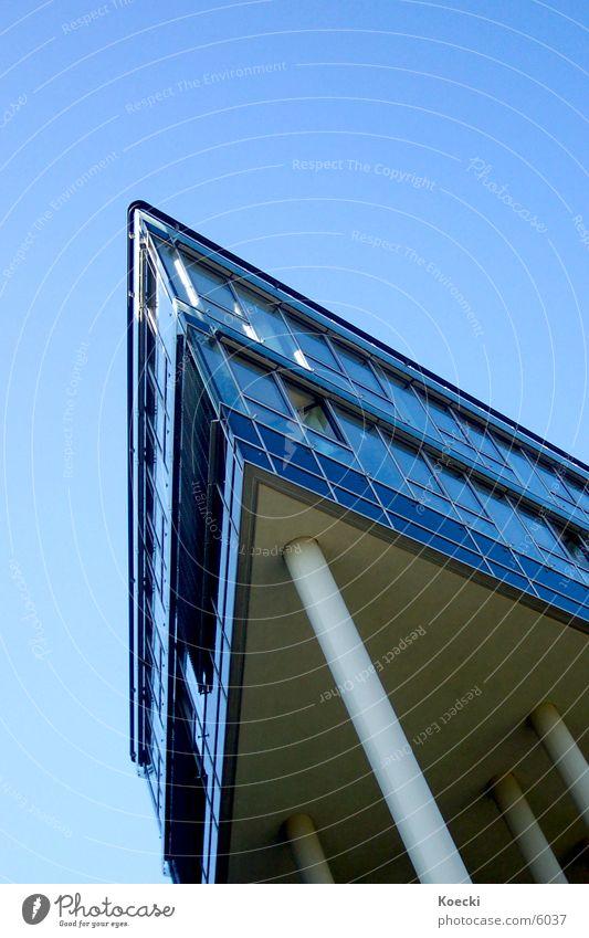 Sun Architecture Tall Modern High-rise Corner Cologne Column Strange Blue sky Office building House (Residential Structure) Mediapark